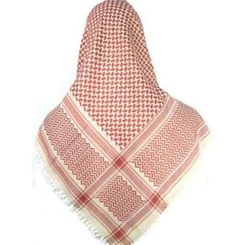 Urban Red And White Palestine Scarf - £9