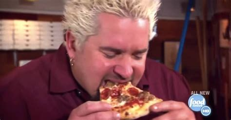 Guy Fieri Eating Pizza in Slow Motion to 'Killing Me