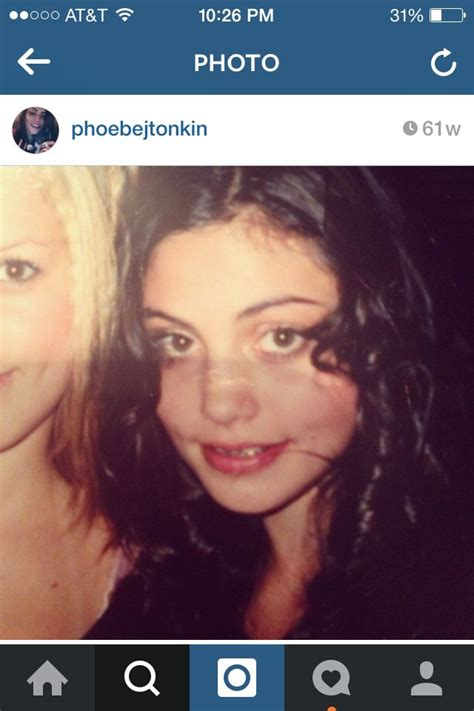 Phoebe Tonkin when she was younger with braces