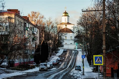Walk through the streets of Smolensk in winter · Russia