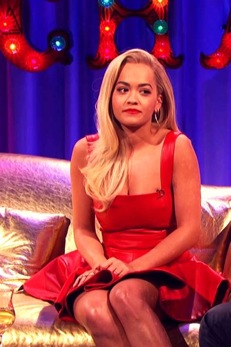 Rita Ora appearing on Alan Carr Chatty Man - Leather