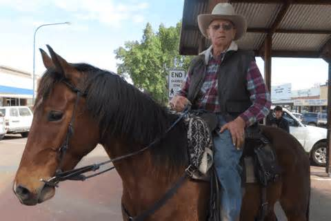 Group saddle up for a charity horse ride from western Qld