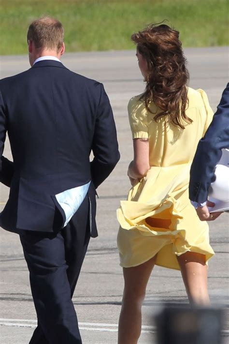 Gust Of Wind Blows Kate Middleton's Dress Up & Still Keeps
