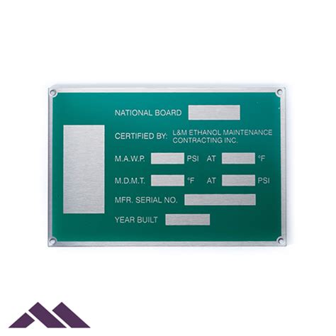 Asset Tags | Equipment, Inventory, Barcodes | Metal Marker Mfg