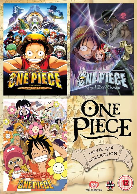 One Piece - Movie 4 - 6 Collection (UK-import)
