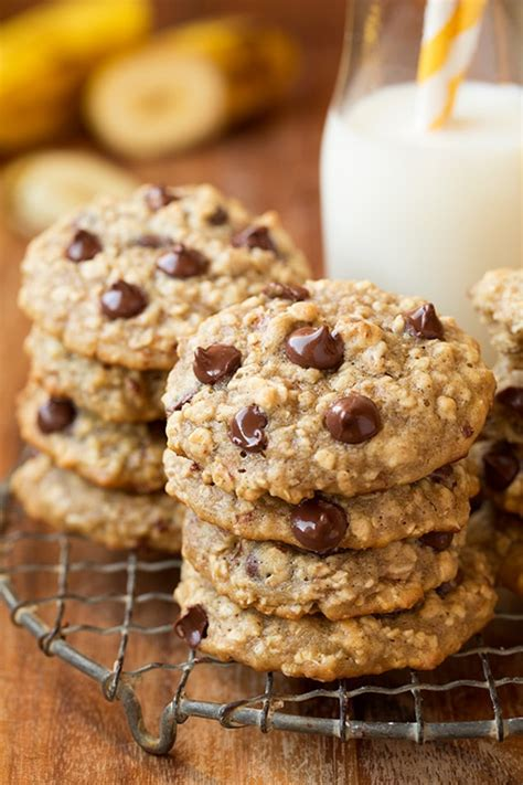 Banana Oatmeal Chocolate Chip Cookies - Cooking Classy