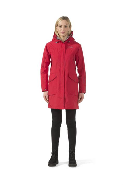 Didriksons Womens Thelma Coat - Red