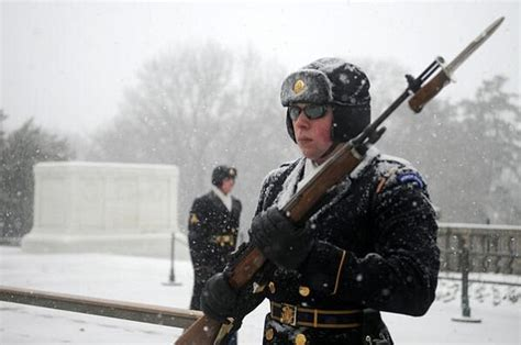 Winter Storm Janus Won't Stop Old Guard At Tomb Of The