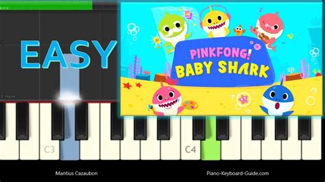 Pinkfong - Baby Shark Song - Easy Piano Tutorial - YouTube