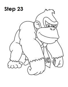 donkey kong coloring pages | Briefpapier, Papier, Spiele