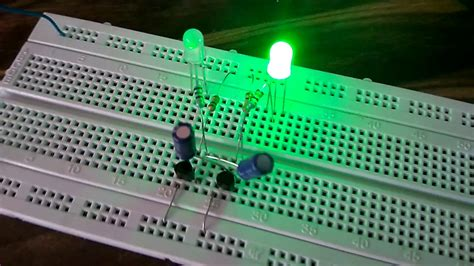 Blinking LED with 2N5551 transistor, capacitors