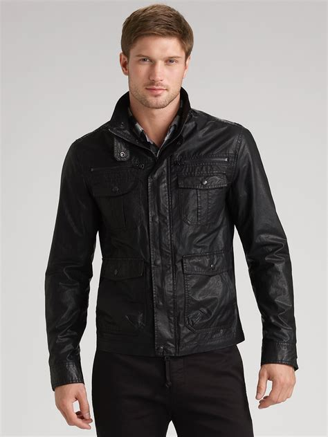 Lyst - Theory Waxed Jacket in Black for Men