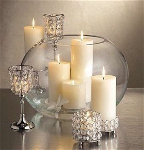 Simple yet elegant candle holders with crystals for