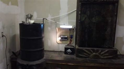 Rocket Stove / Thermoelectric generator and waterfall part