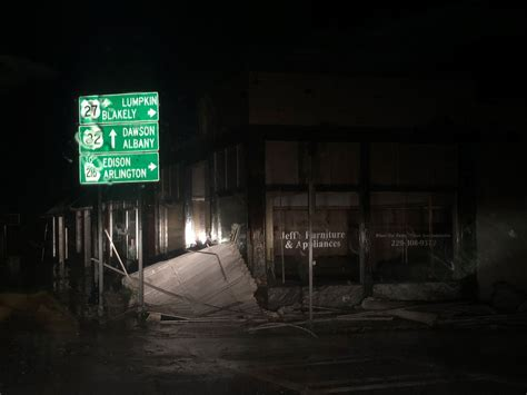 Impact of Hurricane Michael causes damage and power
