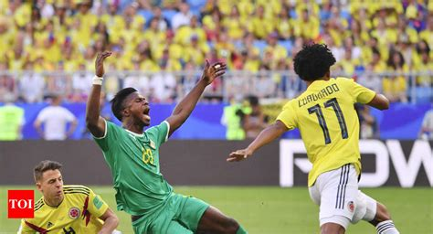 FIFA World Cup 2018: Mina scores as Colombia beat Senegal