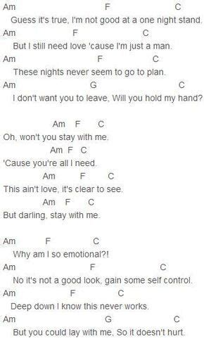 Sam Smith - Stay With Me Chords Love playing it on the