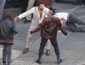 Bradley Cooper and his perm film fight scenes with small