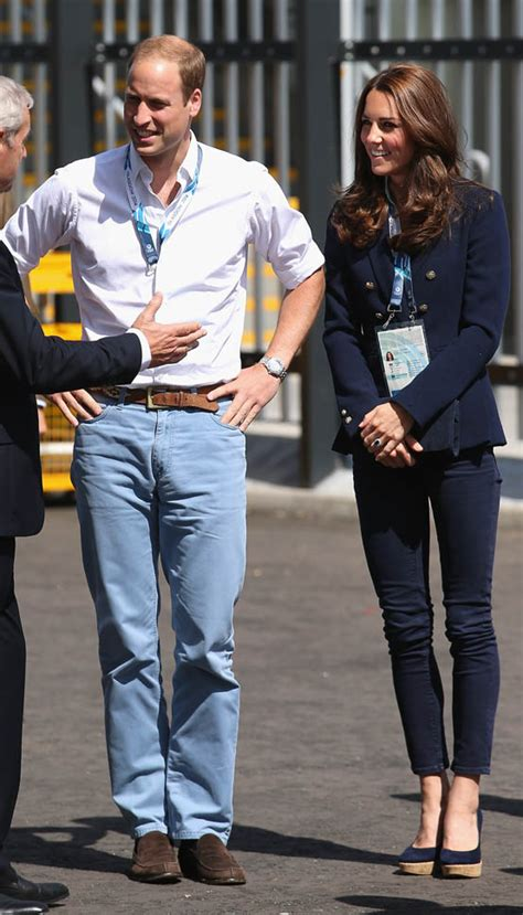 Prince William and Catherine are affectionate at