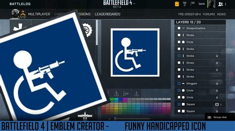 Battlefield Emblems | Creator - Handicapped ICON **FUNNY
