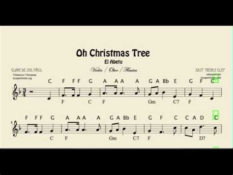 Oh Christmas Tree Easy Notes Sheet Music in treble clef