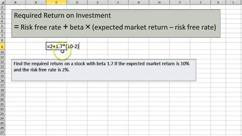 Finding Required Return using CAPM - YouTube