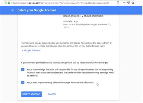 Delete Google Account and Its All Services in One click