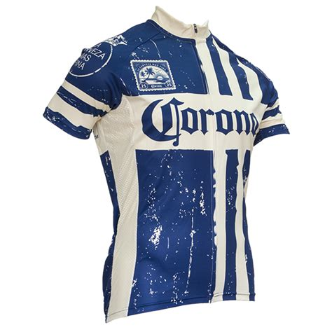 Blue Striped Corona Cycling Jersey | BeerTees