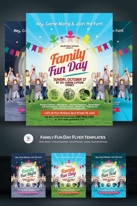 Family Fun Day Flyer Corporate Identity Template #68489