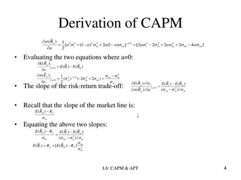 PPT - Lecture 6: CAPM & APT PowerPoint Presentation - ID:49505